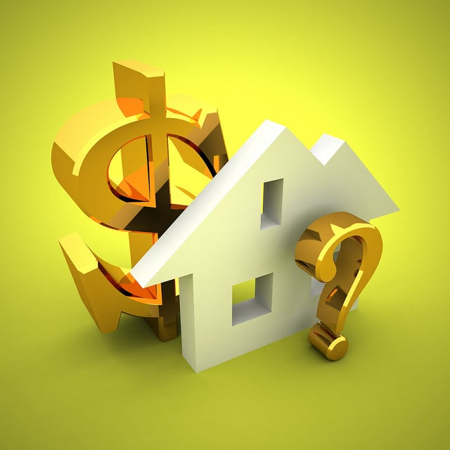 Dollar sign, house and question mark