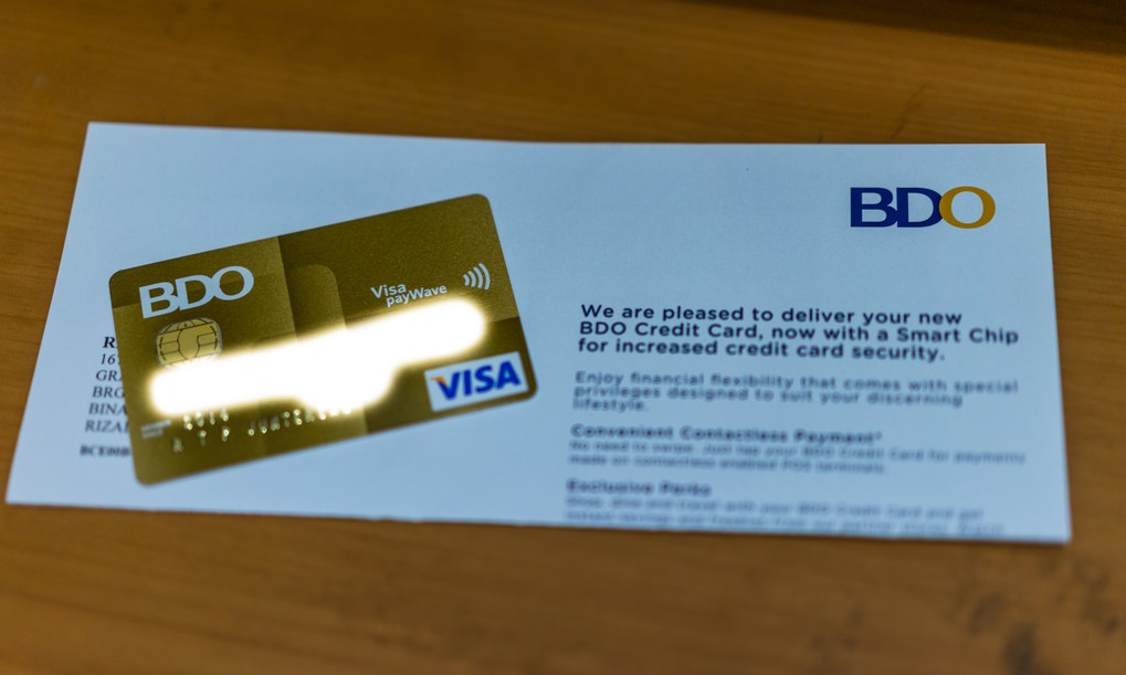 Credit Card And Letter