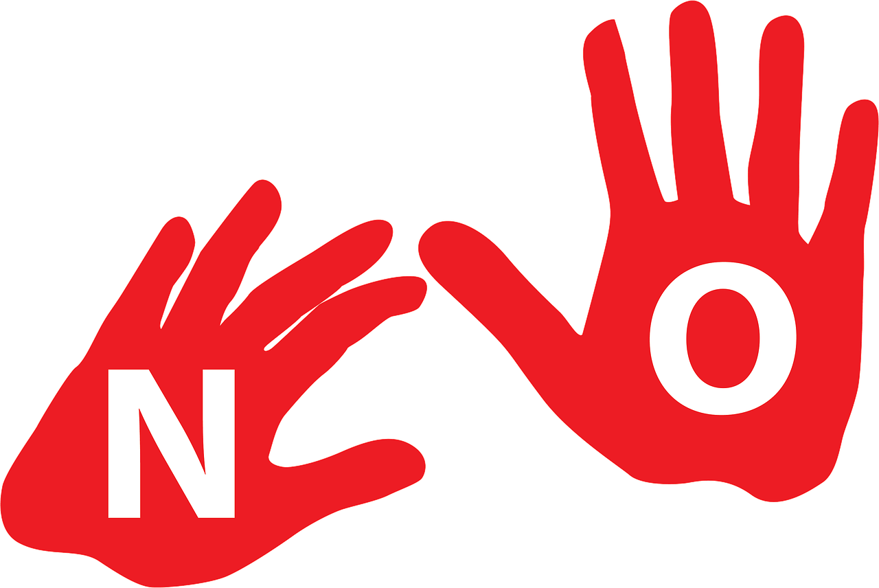 hand with n and o letter illustration
