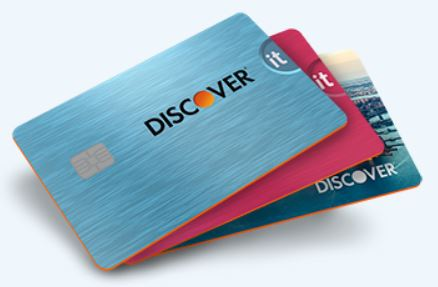 Discover it Student Cash Back Credit Card in three different colors and design