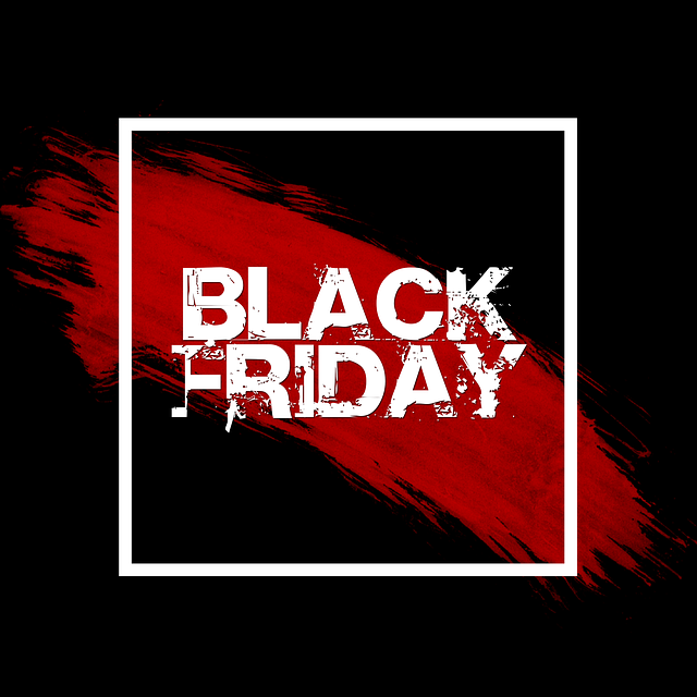 graphic for black friday sale color black with red